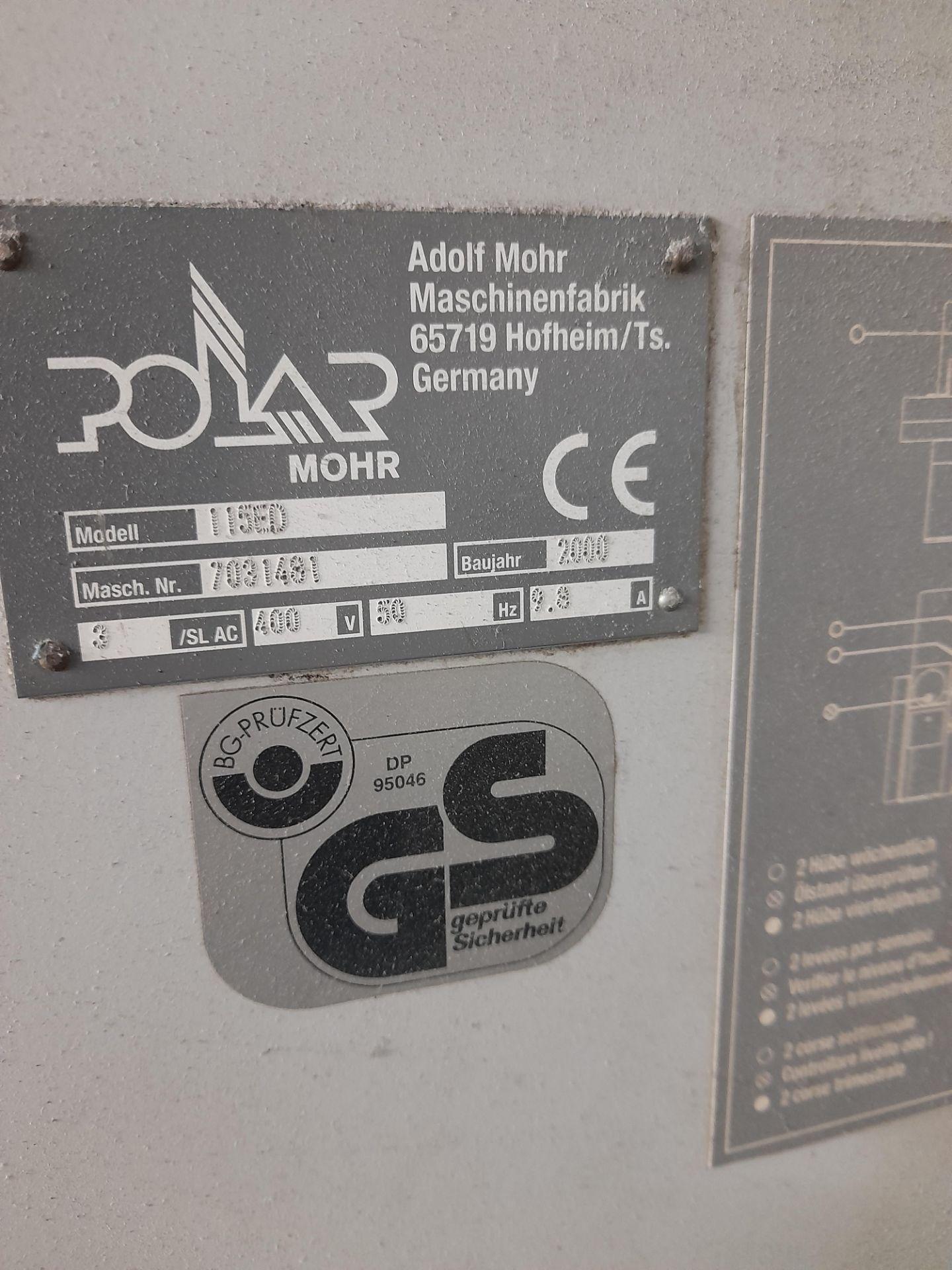 Polar Mohr 115 ED guillotine, Machine Number: 7031 - Image 7 of 9