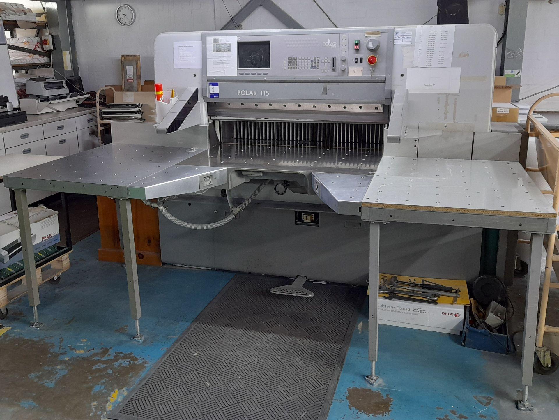 Polar Mohr 115 ED guillotine, Machine Number: 7031