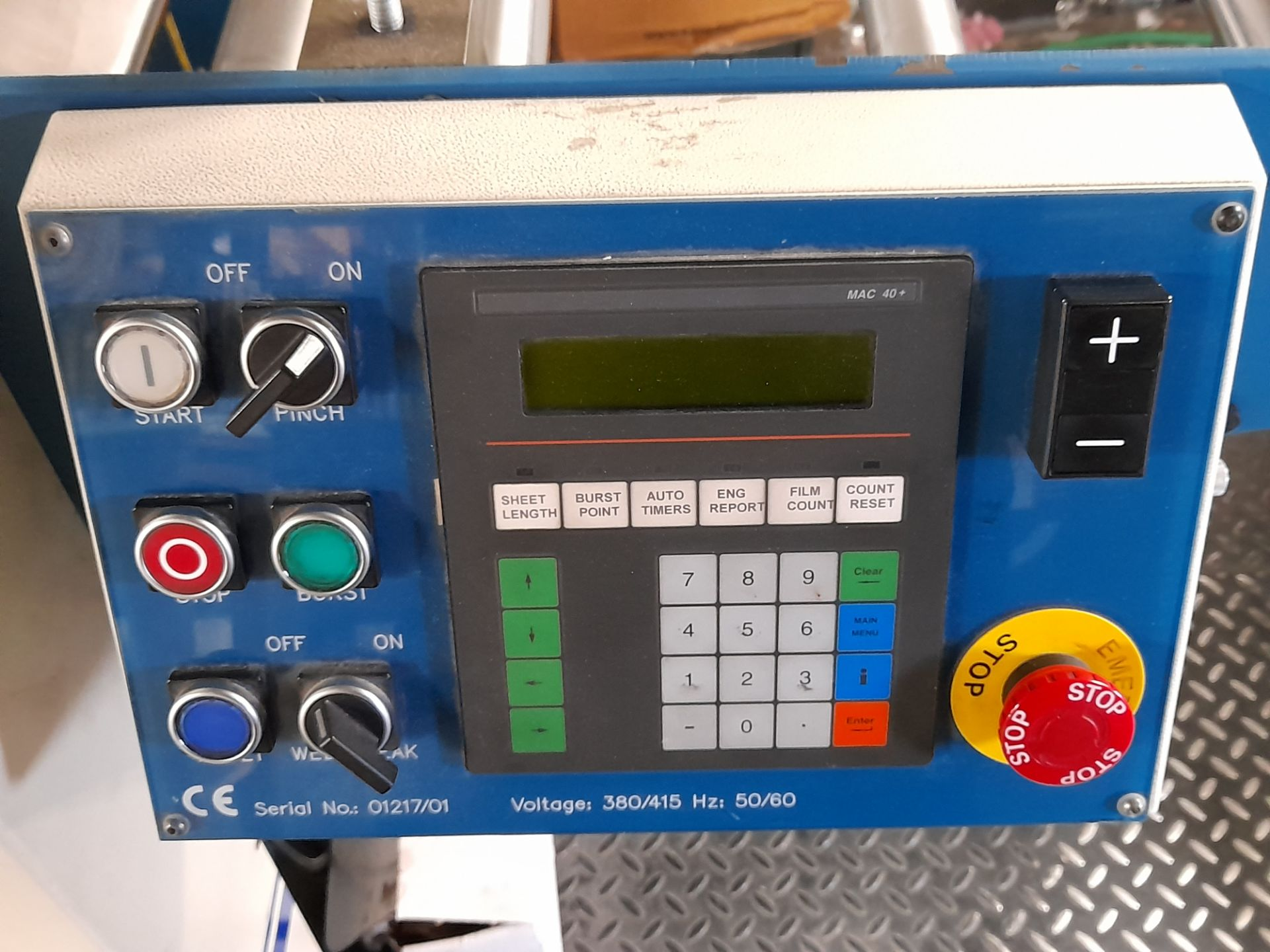 Lamtex TM820 laminator, with Tool Temp TT/142 chil - Image 3 of 10