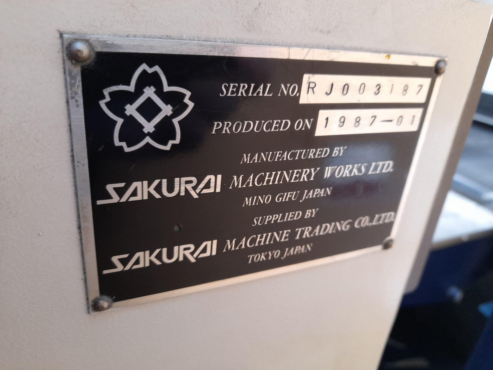 Sakurai Cylinder SC1121 spot coater (Serial Number - Image 9 of 15