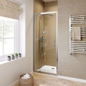 New & Boxed Twyfords 700mm - 6mm - Premium Pivot Shower Door. RRP £299.99.Of2100Cp. 8mm Safety Glass