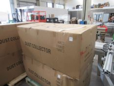 2 Bag Dust Extractor (Boxed) 415V, 3PH, 50Hz, 5.5KW .Please note there is a £5 Plus VAT Lift Out Fee