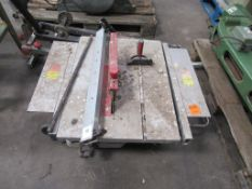 Rexon BT2502AE Table Saw. S/N: M12680, 240V, Single Phase. 50Hz