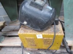 Topweld 160 ARC welder with welding mask 240V, single phase, 50Hz