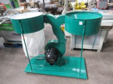 2 Bag Dust Extractor Unit, 415V, 3PH, 50Hz, 5.5KW. Please note there is a £5 Plus VAT Lift Out Fee