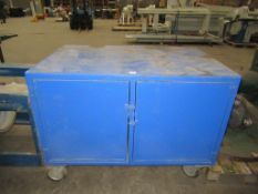 Mobile steel storage box approx dimensions 1500mm x 1000 x 1100