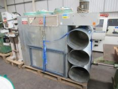 3 bag multi filter dust unit with file cv explosion panel and bins