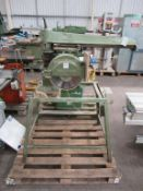 Multico CC3 Radial Arm Saw, S/N1704. Please note there is a £10 Plus VAT Lift Out Fee on this lot.