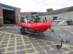 Whaly 435 Plastic Boat with Yamaha 30 Outboard