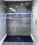 Black Shower Tray Approx. (1700 x 700), Kelia Show