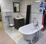 1500 x 700 Windsor Classic Bath with White Legs, B