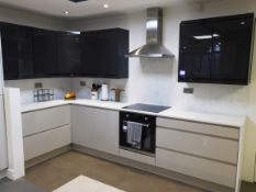 Kitchen Set to include L Shaped White Marble Effec