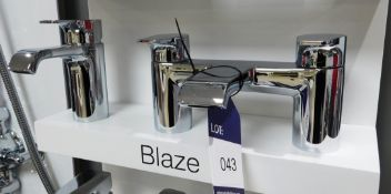 Tavistock Blaze Basin and Bath Mixer Taps