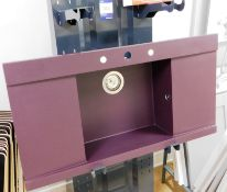 GM Grandmaster Zero Violet Double Drainer Sink Uni