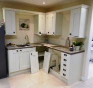 L-Shaped Corner Kitchen Set to Include Granite Eff