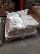 1 Pallet of mixed raw materials, including Fine Talc, Polywhite B, Hyplas 71, etc.,