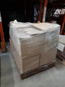 1 Pallet of boxed plastic bottles - 250ml white HDPE squat cylindrical - 38mm neck, Qty 200/box,