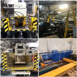 Spray Booth Facility, Screw Compressors, Presses and Travelling Cranes