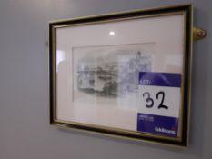 Framed Water Colour, Framed Oil Painting & 4 Frame