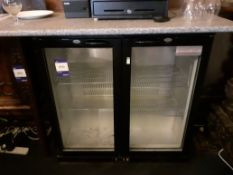 Sterling Pro SP2BC BK/HG Double Door Display Refri