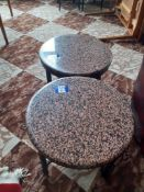 2 Granite Topped Low Tables