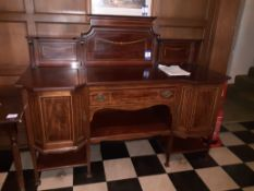 Victorian Mahogany Veneer Chiffoneer Marquetry & S