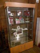 Glazed Double Door Display Cabinet, 1,800mm includ