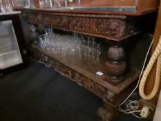 Oak Late 19th Century Serving Table, 2,050mm
