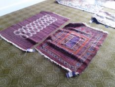 2 Persian Style Prayer Rugs