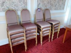 15 Steel Framed Stacking Chairs & 2 Timber Tables