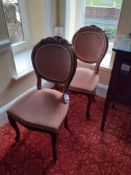 Pair of Balloon Back Dining Chairs and Giltwood Ef