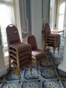 55 Steel Framed Stacking Chairs & 14 Timber Extend