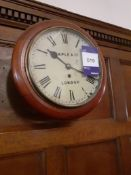 Maple & Co Painted Dial Fusee Movement Wall Clock,