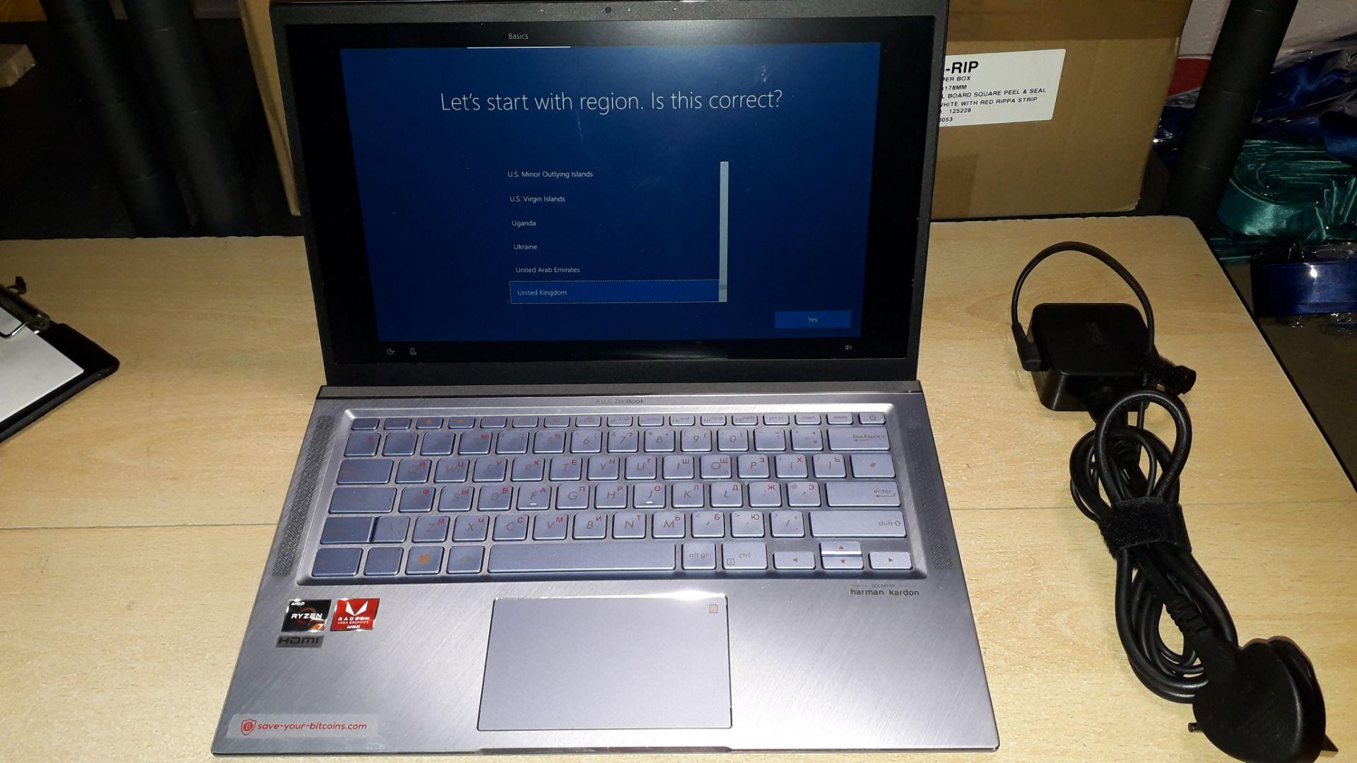 """Asus ZenBook UM431D 14"""" Ryzen 7 Laptop (2020) Seri - Image 3 of 5"""