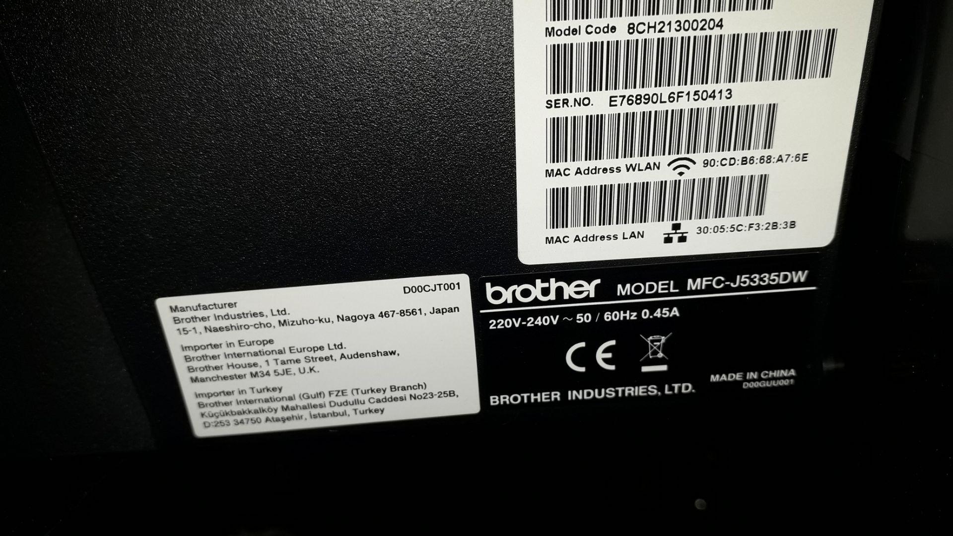 Brother MFCJ5335DW A3 Inkjet Printer Serial Number - Image 2 of 4