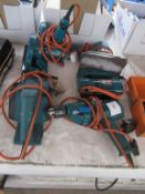5 Various Black and Decker 240 Power Tools to include Crucial Saw, P Lever, Drill, Jig Saw and Sande