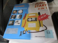 Top Power Jump Start 4 in 1 unit with Power Craft Hot Air Gun and Hitachi 110mm Electric Jigsaw in c