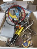 Box to include various items: Tools, Gauges, Clamps, Bunsen Burner etc