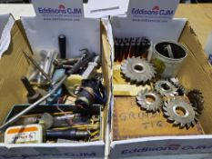 2x boxes of Modelling/ Engineering items including Cutters, 'Reliance' Grinding Jig etc
