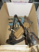 Contents of box to include Lamps, Files and Clamps etc