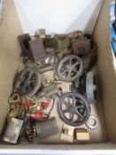 Contents of box to include various Model Making Components including Fly Wheels, Valves and various