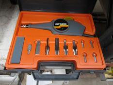 Burgess HOBBVIST model engraving kit in case