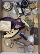 Antique Collectables, Coins, Fruit Knife (4 Blades), Spode Miniature Plae, Meershaum Pipe etc