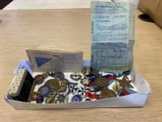 Interesting Collection of Enamelled Badges, Special Constables and Military Medals etc