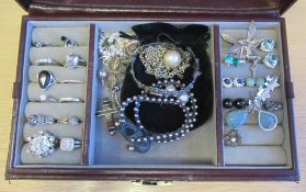 Thomas Sabo Silver Bracelet, Various chains, Rings etc Some Marked 925, Sapphire Stud Earrings etc