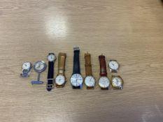 Vintage Watches to include: MuDu, Seiko, Automatic, Majex, Services, Accurist, Faure Leuba etc