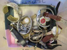 Various Watches marked: Seiko, Christina Dior, Buren, Swatch, Avia, Raymond Weil, Mont Blanc, Rotary