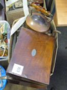 Copper Kettle, Mahogany Box, Cutlery, Silver Plated Items, Eperene Flutes etc