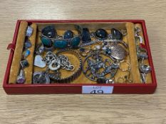 Labradorite & Turquoise Bracelets Silver Rings, Peridot Ring etc