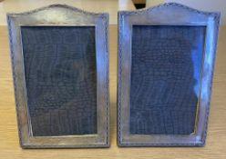 Pair Silver Photo Frames, Birmingham 1929